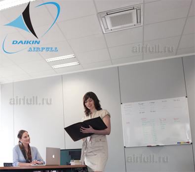 Кассетный кондиционер Daikin FFA-A в интерьере