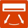 ГОРИЗОНТАЛЬНАЯ РЕГУЛИРОВКА ЖАЛЮЗИ - При помощи пульта можно управлять горизонтальным положением механизированных жалюзи (некоторые модели)