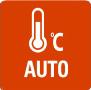 АВТОМАТИЧЕСКИЙ РЕЖИМ - Благодаря функции AUTO, климатическая система способна самостоятельно выбирать режим работы (охлаждение или нагрев) — в соответствии с заданной температурой в помещении. Режим будет автоматически подстраиваться под температуру. В конфигурациях MULTI режим не будет меняться.