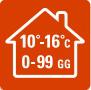 РЕЖИМ «ВНЕ ДОМА» - В  случаях, когда вы  надолго уезжаете из дома зимой, данная функция позволяет избежать слишком сильного охлаждения помещения (ниже 10 °C). Функцию «ВНЕ ДОМА» можно активировать на период до 99 дней. Некоторые модели позволяют задать минимальную температуру, которая должна поддерживаться в помещении (от 10 °C до 16 °C). По окончании заданного периода система возобновит работу в своем обычном режиме.