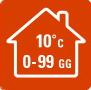 РЕЖИМ «ВНЕ ДОМА» - В  случаях, когда вы  надолго уезжаете из дома зимой, данная функция позволяет избежать слишком сильного охлаждения помещения (ниже 10 °C). Функцию «ВНЕ ДОМА» можно активировать на период до 99 дней.