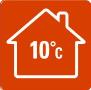 РЕЖИМ «ВНЕ ДОМА» - В  случаях, когда вы  надолго уезжаете из дома зимой, данная функция позволяет избежать слишком сильного охлаждения помещения (ниже 10 °C).