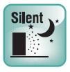 РЕЖИМ SILENT. Снижение уровня шума наружного блока в ночное время, без существенных потерь производительности кондиционера.