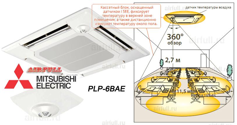 """Декоративная панель может быть оснащена инфракрасным датчиком температуры """"I SEE"""", который сканирует температуру  поверхности пола и стен и фиксирует даже незначительную неравномерность охлаждения или нагрева."""