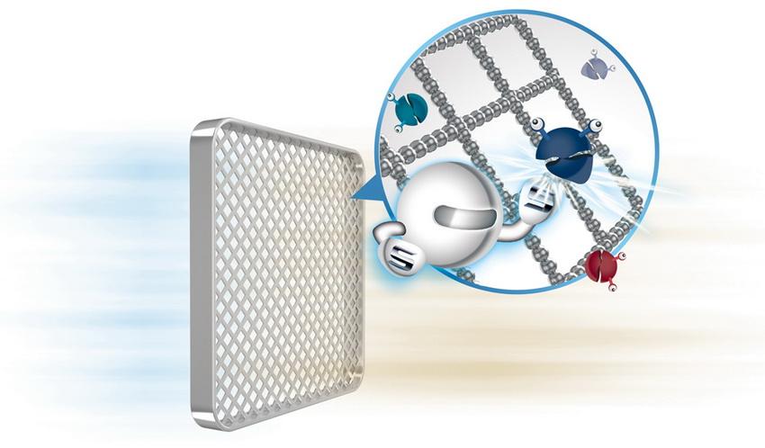 Фильтр с ионами серебра разрушает внутреннюю структуру бактерий и убивает их, препятствуя их появлению