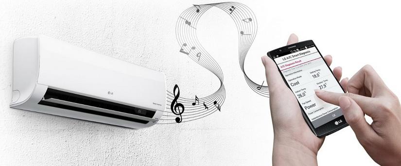 Умная диагностика по Wi-Fi позволяет пользователю проверить настройки кондиционера,  а также описание неполадки через смартфон.