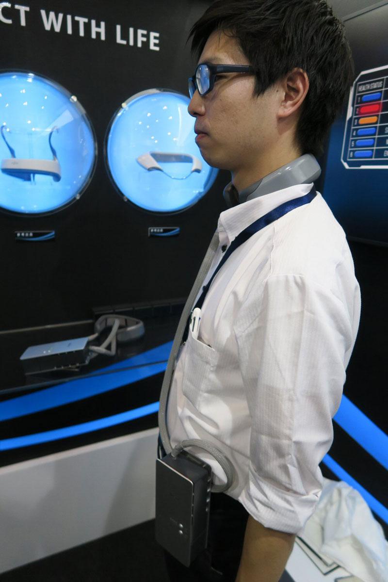 Стандартное исполнение кондиционера с креплением на шее