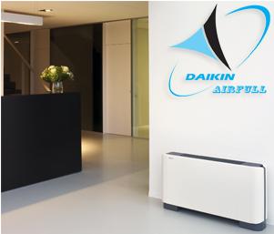 Внутренний блок напольного типа DAIKIN VRV FXLQ-P в интерьере