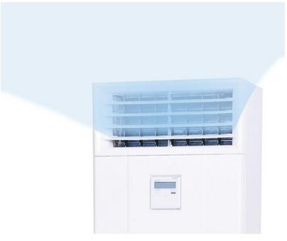 Мощный поток воздуха, встроенная панель управления колонного кондиционера Mitsubishi Heavy