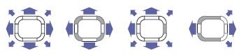 23 различных варианта подачи воздуха: внутренние блоки можно устанавливать в углах и узких помещениях
