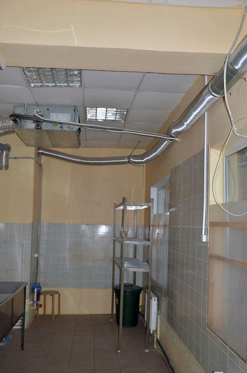 схема приточно-вытяжной вентиляции в кафе