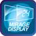 MIRAGE дисплей - Благодаря функции MIRAGE дисплей, когда кондиционер выключен дисплей не виден на передней панели. Это создает более современный и стильный вид передней панели блока
