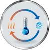Температурная компенсация - изменение высоты установки внутреннего блока приводит к разной величине отклонения температуры, измеряемой датчиком, от фактической температуры на уровне пола. Изменение конфигурации соединительных перемычек на печатной плате внутреннего блока позволяет компенсировать эти отклонения. Настройка может быть произведена специалистом на месте монтажа