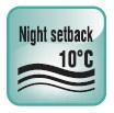 РЕЖИМ NIGHT SETBACK. Функция предотвращения замораживания помещения при отсутствии в нем людей.