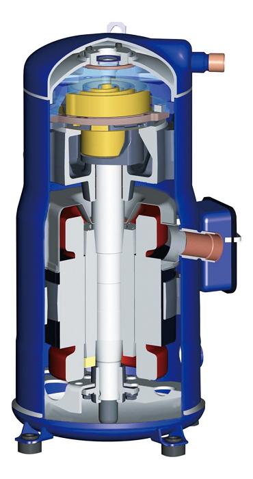 Высокоэффективный спиральный компрессор